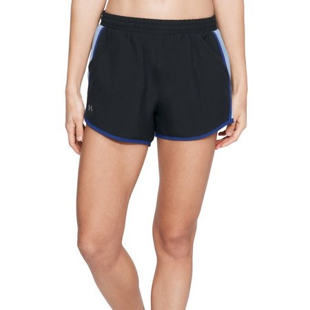 Under Armour Womens Side Stripe Fly Run Shorts