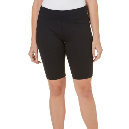 Brisas Womens Pull On Ruched Bike Bermuda Shorts