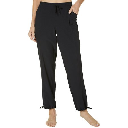 Brisas Womens Drawstring Woven Jogger Pants