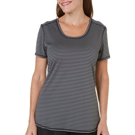 Brisas Striped Heather Performance Tee