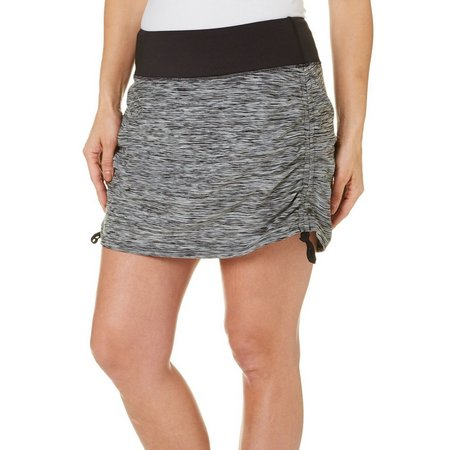 Brisas Womens Space Dyed Double Layer Run Skort