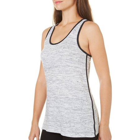 Brisas Womens Space Dyed Contrast Detail Tank Top