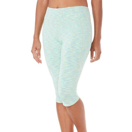 Brisas Asana Pull On Space Dye Knee Capris