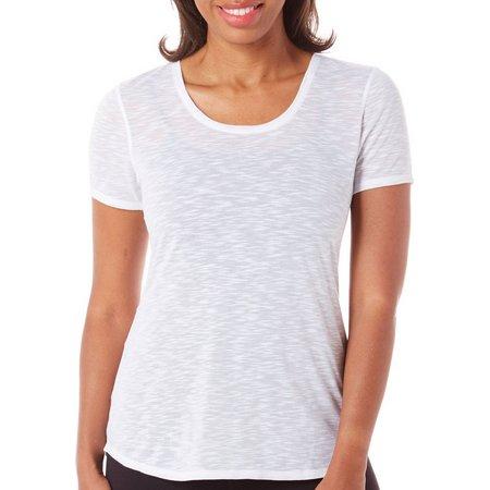 Brisas Womens Slub Knit Solid T-Shirt