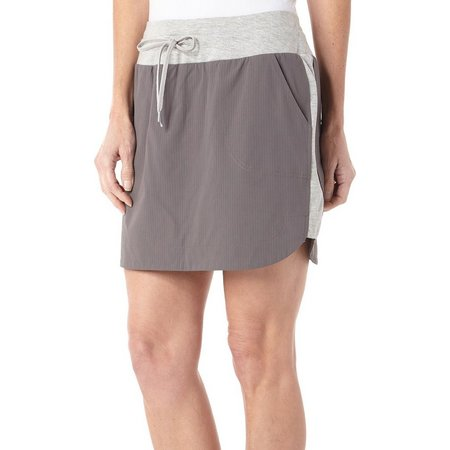 Brisas Womens Active Heather Trim Skort