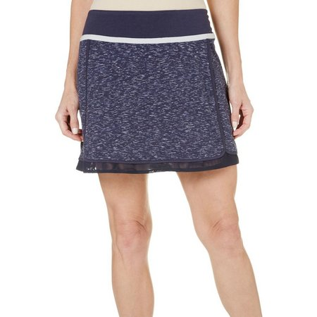 Brisas Womens Reflective Tape Space Dye Skort
