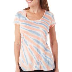 New! Brisas Womens Tie Dye Scoop Neck Seamed