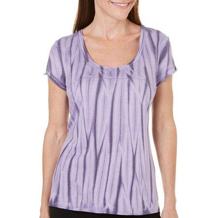 Brisas Womens Vertical Stripe Tie Dye Top