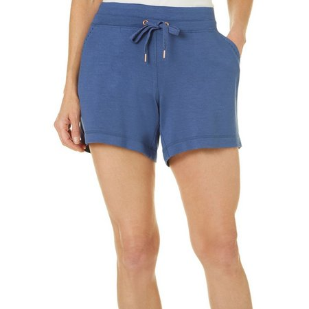 Brisas Womens Ribbed Elastic Waist New Fabric Shorts