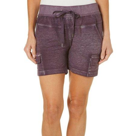 Brisas Womens Terry Cargo Pocket Shorts