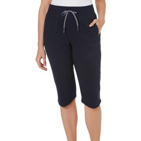 Brisas Womens Zip Pocket Pull On Bermuda Shorts