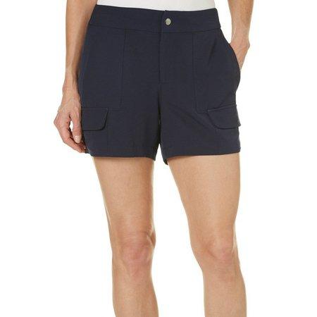 Brisas Womens Woven Utility Shorts
