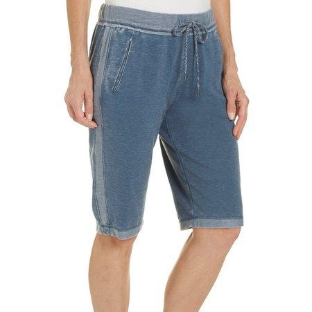 Brisas Womens Terry Mineral Wash Bermuda Shorts