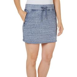 New! Brisas Womens Terry Mineral Wash Skort