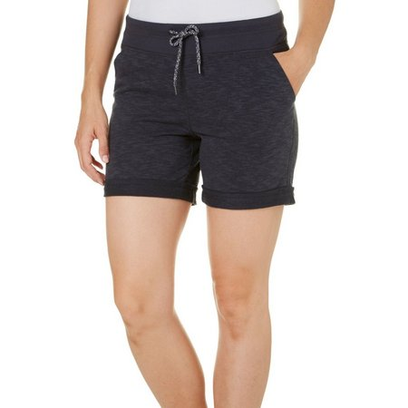 Brisas Womens Space Dyed Terry Cuffed Shorts