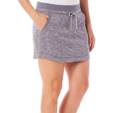 Brisas Womens Space Dyed Ribbed Waist Skort