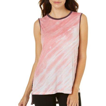Brisas Womens Tie Dye High-Low Tank Top