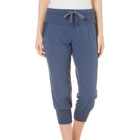 Brisas Womens Woven Stretch Jogger Capris