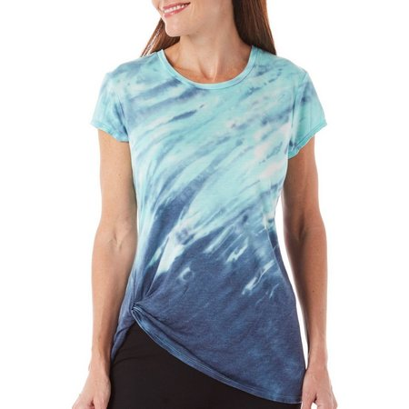 Brisas Womens Tie Dye Loop Front T-Shirt