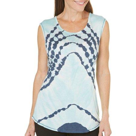 Brisas Womens Triangle Tie Dye Tank Top