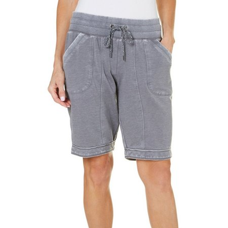 Brisas Womens Mineral Wash Terry Bermuda Shorts