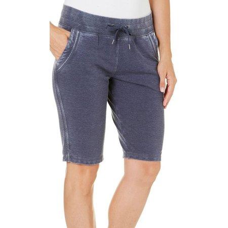 Brisas Womens Mineral Wash Bermuda Shorts