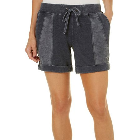 Brisas Womens Panel Design Cuffed Shorts