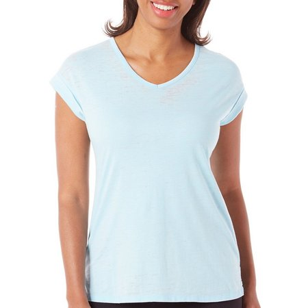 Brisas Womens Roll Sleeve V-Neck T-Shirt