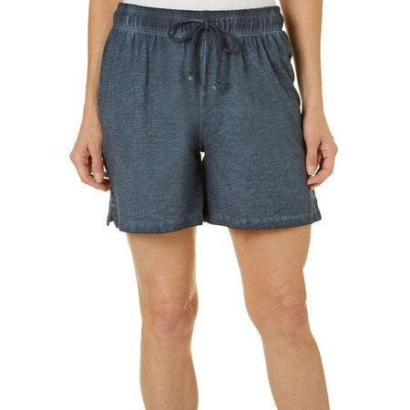 Brisas Womens Mineral Wash Drawstring Shorts
