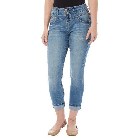 Wallflower Juniors Ankle Bracelet & Crop Jeans