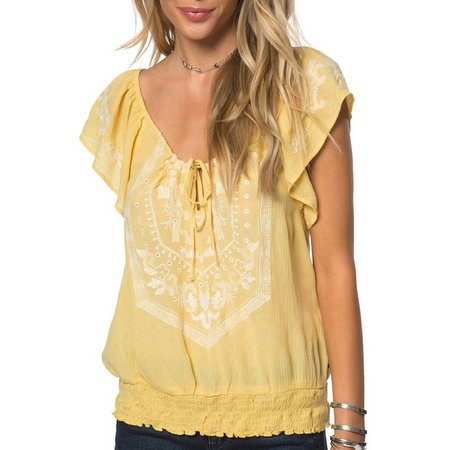 O Neill Juniors Anya Peasant Top