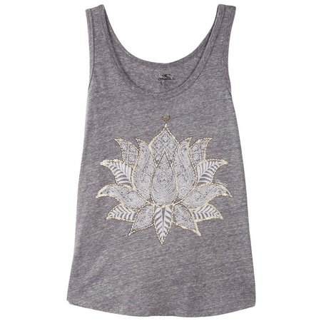 O'Neill Juniors Lotus Screen Print Tank Top
