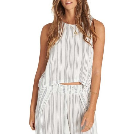 Billabong Juniors Striped Flutter Tank Top