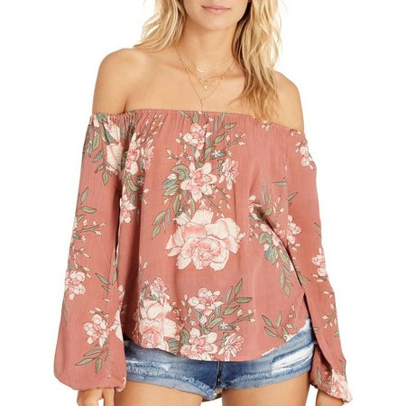 Billabong Juniors Mi Amore Floral Off ShoukderTop