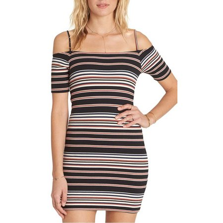 Billabong Juniors Checked Stripe Dress