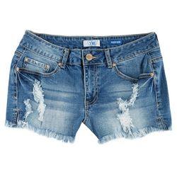 YMI Juniors Destructed Frayed Hem Denim Shorts