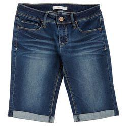 YMI Juniors Luxe Denim Bermuda Shorts
