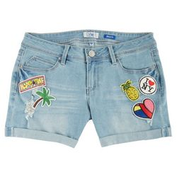 New! YMI Juniors Light Wash Patchework Denim Shorts