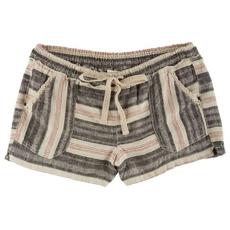 Jolt Juniors Striped Linen Shorts
