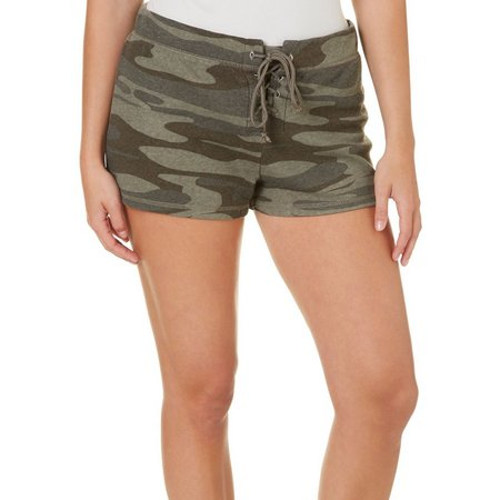 Miss Chievous Juniors Camo Print Dolphin Shorts