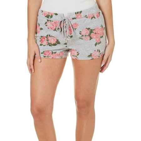 Miss Chievous Juniors Floral Print Dolphin Shorts