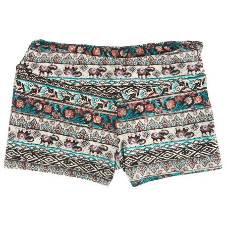 Hot Kiss Juniors Elephant Aztec Print Mix Shorts