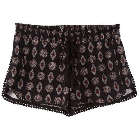 Hot Kiss Juniors Aztec Diamond Printed Shorts