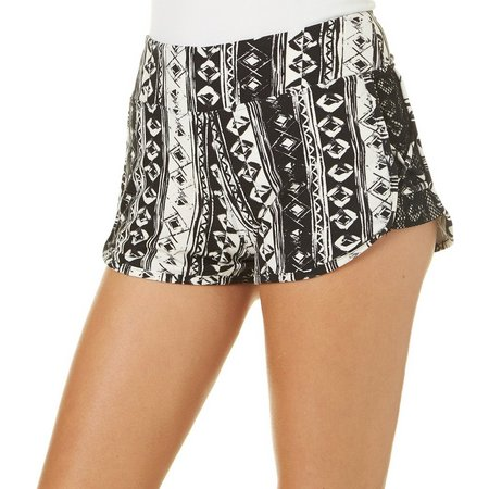 Hot Kiss Juniors Aztec Print Lattice Side Shorts