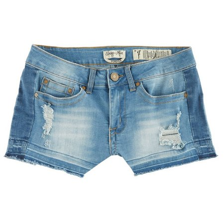 Indigo Rein Juniors Released Hem Denim Shorts