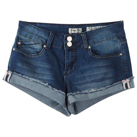 Indigo Rein Juniors Frayed Cuff Denim Shorts