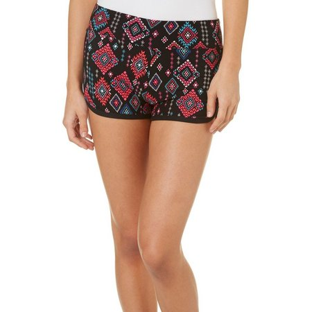 Derek Heart Juniors Geo Aztec Print Shorts