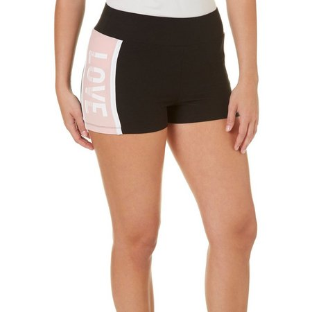 Derek Heart Juniors Love Elastic Waist Shorts