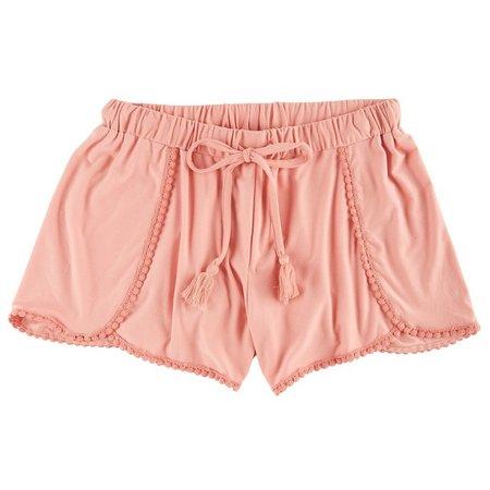 Derek Heart Juniors Crochet Trim Tulip Shorts