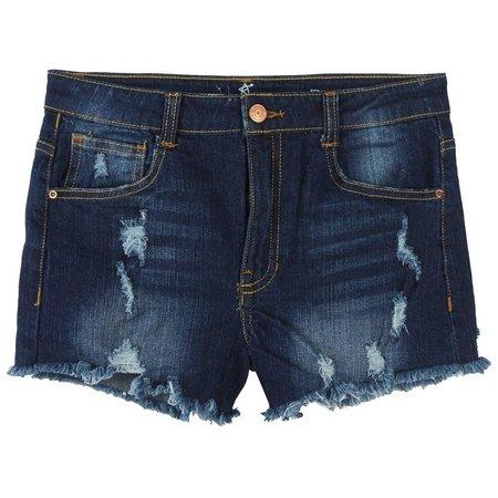 Almost Famous Juniors High Waist Denim Shorts
